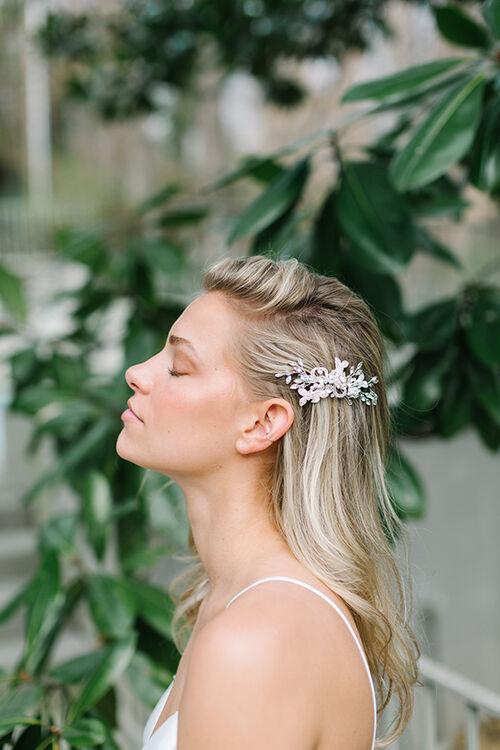 FLORAL CRYSTAL HAIR CLIP