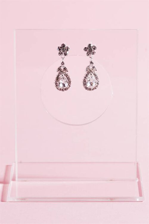 FLORAL CRYSTAL EARRING