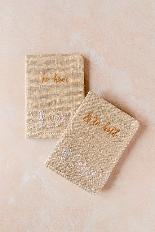 TO HAVE & HOLD VOW BOOKS