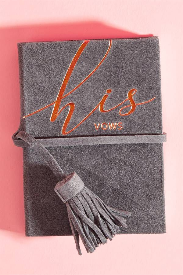 HIS VOW BOOK