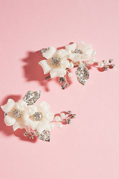 SET OF TWO FLOWER CLIPS