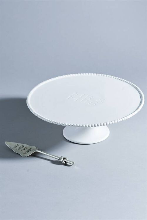 ENGRAVED CAKE STAND SET