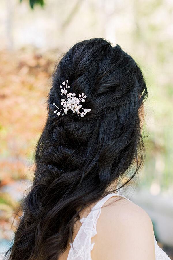 PEARL SPRAY HAIR PIN