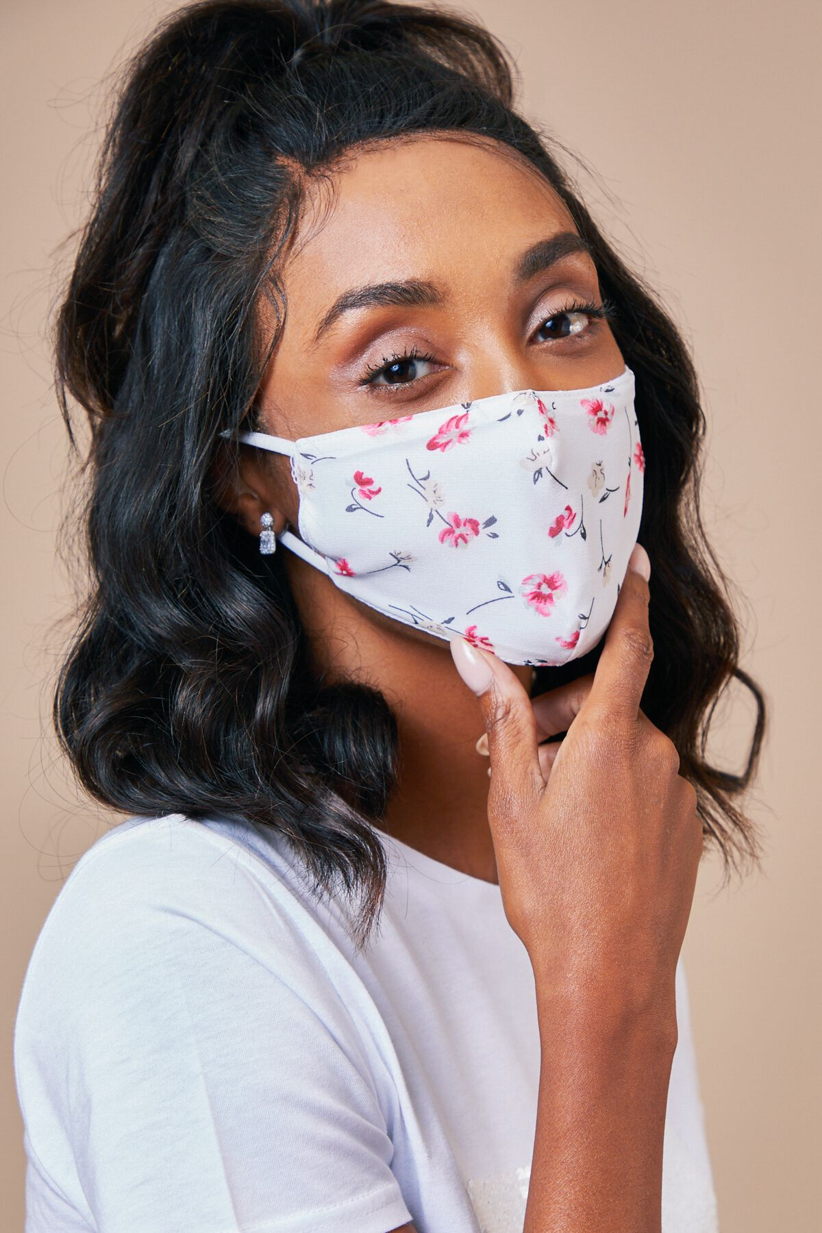 TINY FLORAL FACE MASK