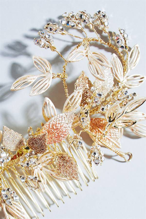 WIRE LEAF GOLD COMB